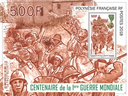 Polynésie Française POLYNESIA 2018 Bloc Centenary World War 1 - Ww1 Soldier Medal Uniform - 1v MNH - Blocs-feuillets