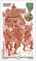 Polynésie Française POLYNESIA 2018 Stamp Centenary World War 1 - Ww1 Soldier Medal Uniform - 1v MNH - Guerre Mondiale (Première)