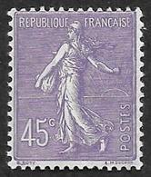 FRANCE  1924-32 -  Y&T 197  -  Semeuse 45c    -  NEUF** - Cote 13e - 1906-38 Semeuse Camée