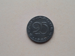 25 Pfennig - STADT AACHEN 1920 ( NOTGELD - For Grade, Please See Photo ) ! - Monétaires/De Nécessité