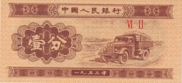 CHINA 1 FEN 1953 P-860c UNC 2 ROMAN NUMERALES [ CHI860c ] - China