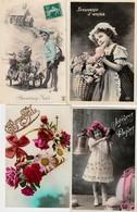 Lot De 500 Cartes Postales Fantaisies. -  Enfants, Femmes , Couples, Pâques, Noël, Bonne Année Etc.... - Cartes Postales