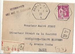 Pli Timbré France 1936 - Autres