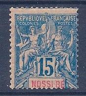 NOSSI BE - 32 15C BLEU TYPE GROUPE NEUF* COTE 16 EUR - Nossi-Bé (1889-1901)