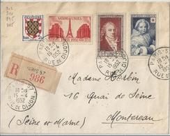 Lettre Timbrée France 1952 YT 902 911 895 915 - Autres