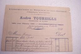 NAUTISME   -  ROCHEFORT- Sur- MER  -CONSTRUCTION DE BATEAUX EN TOUS GENRES -ANDRE TOURELLE - Transport