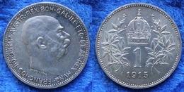AUSTRO-HUNGARIAN EMPIRE - Silver Corona 1915 KM# 2820 Franz Joseph I - Edelweiss Coins - Autriche