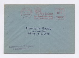 Firmen Umschlag Hermann Haase Landmaschinen-Geräte WINSEN + AFS HAMBURG HARBURG, Der Landrat 1943 - Deutschland