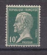 France Année 1923-1926 Type Pasteur  N° 170**  10 C Vert  Lot 1174 - 1922-26 Pasteur