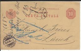 Rumänien P15A Jassy 23.4.85 Nach Zürich - Enteros Postales