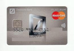 Deutsche Bank POLAND Platinum MASTERCARD Expired - Tarjetas De Crédito (caducidad Min 10 Años)