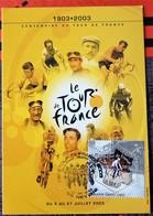 """Carte 2003 """"CENTENAIRE DU TOUR DE  FRANCE"""" Ville étape NEVERS - Documenti Della Posta"""