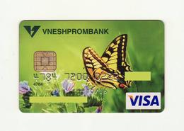 Vneshprombank RUSSIA Butterfly VISA Expired - Tarjetas De Crédito (caducidad Min 10 Años)