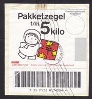 Netherlands: Parcel Fragment (cut-out), 1995, Parcel Stamp (pakketzegel), Dick Bruna, Present, Gift (damaged, See Scan) - Period 1980-... (Beatrix)
