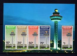 SINGAPORE   1981    Opening  Of  Changi  Airport    Sheetlet     MNH - Singapore (1959-...)