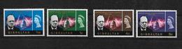 Gibraltar, 1966 Churchill Commemorative, Complete Set MNH (7256) - Gibraltar