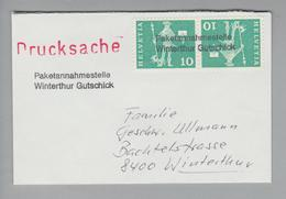 Heimat CH ZH Winterthur Gutschick Paketannahmestelle Ca. 1966 - Suisse