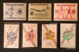 PHILIPPINES Sport YT 1954 N°420 à 422 Et 1964 N°605 à 608 - Philippines