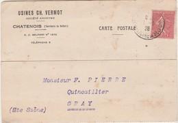 Carte Commerciale 1928 / Usines Ch. VERMOT / 90 Châtenois - Cartes