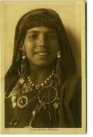 AFRICA - TUNISIA -  JEUNE FEMME BEDOUINE - EDIT LEHNERT & LANDROCK ( 109) 1920s ( BG1499) - Tunisia