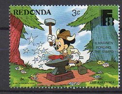 REDONDA. DISNEY. MNH (1R1109) - Disney