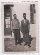 Photo Originale Militaria Soldat Et Tirailleur Sénégalais - Guerre, Militaire