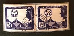 PHILIPPINES YT 1957 N°451 Paire Oblitéré Non Dentelé - Philippines