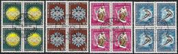 Schweiz Suisse 1948: Winter-Olympiade D'hiver St.Moritz: Zu 25-28 Mi 492-495 Yv 449-452 Blocks O (Zu CHF 90.00) - Invierno 1948: St-Moritz
