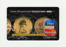 Bank Financial Initiative UKRAINE Coins MASTERCARD Expired - Tarjetas De Crédito (caducidad Min 10 Años)