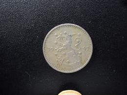 FINLANDE : 1 MARKKA   1937 S    KM 30     TTB - Finlande