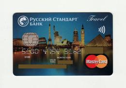 Russian Standart Bank RUSSIA Travel MASTERCARD Expired - Tarjetas De Crédito (caducidad Min 10 Años)