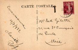 1932  CARTOLINA CON ANNULLO  CARCASONNE - Francia