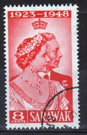 Sarawak 1948 Single Eight Cent Scarlet Low Value From Silver Wedding Set. - Sarawak (...-1963)