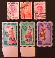 PHILIPPINES YT 1969 N°725-726; 1971 N°804; 1974 N°950 à 952 - Philippines