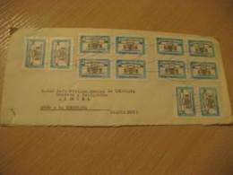 BUENOS AIRES To La Uruguaya Santa Cruz 12 Stamp Cover ARGENTINA - Argentina