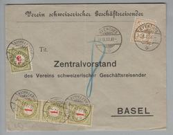 Heimat CH VD Avenches 1902-09-10 Taxierte Drucksache 8 Rp. - 1882-1906 Armarios, Helvetia De Pie & UPU