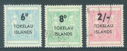 TOKELAU - USED/OBLIT. - 1966  - Yv  6-8 OVERPRINT TAX 6p IS MNH/** -  Lot 18344 - Tokelau
