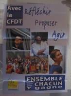 Affiche Poster SNCF Fgte Cfdt Cheminot Avec La CFDT Réfléchir Proposer Agir 41,5 X 29,5 Cm Environs - Chemin De Fer