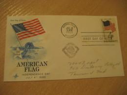 HONOLULU 1960 50 Star American Flag HAWAII Fdc Cancel Cover USA - Hawaï
