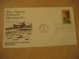 HONAUNAU 1972 Winsor Castle Pipe Spring City Of Refuge National Parks HAWAII Fdc Cancel Cover USA - Hawaï