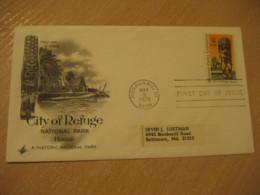 HONAUNAU 1972 City Of Refuge National Parks HAWAII Fdc Cancel Cover USA - Hawaï