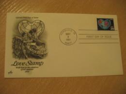 HONOLULU 1991 Love Stamp HAWAII Fdc Cancel Cover USA - Hawaï