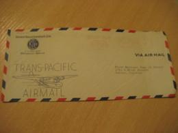 HONOLULU 1945 Bishop Trust Company Trans-Pacific Airmail HAWAII Meter Mail Cancel Cover USA - Hawaï