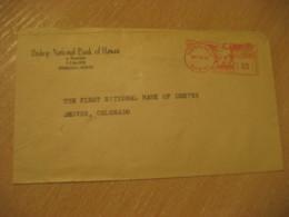 HONOLULU 1948 Bishop National Bank Of HAWAII Meter Mail Cancel Cover USA - Hawaï