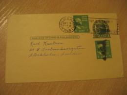 HONOLULU 1949 Buy U.S. Savings Bonds HAWAII Cancel Postal Stationery Card USA - Hawaï