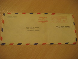 HONOLULU 1950 Punahou School HAWAII Meter Air Mail Cancel Cover USA - Hawaii