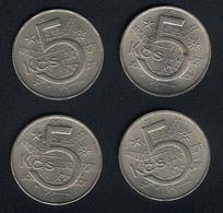 Tschechoslowakei, Lot 5 Korun 1966-1969, XF - Tschechoslowakei