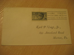 HONOLULU 1952 Chinese Centennial Week China Chine HAWAII Cancel Cover USA - Hawaii