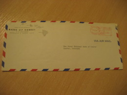 HONOLULU 1958 Bank Of HAWAII Meter Air Mail Cancel Cover USA - Hawaï