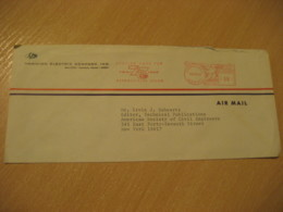 HONOLULU 1966 Hawaiian Electric Company Serving OAHU For 75 Years HAWAII Meter Air Mail Cancel Cover USA - Hawaï